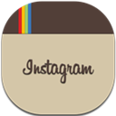 Flat, Instagram, Round Icon