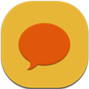 Chat, Flat, Round Icon