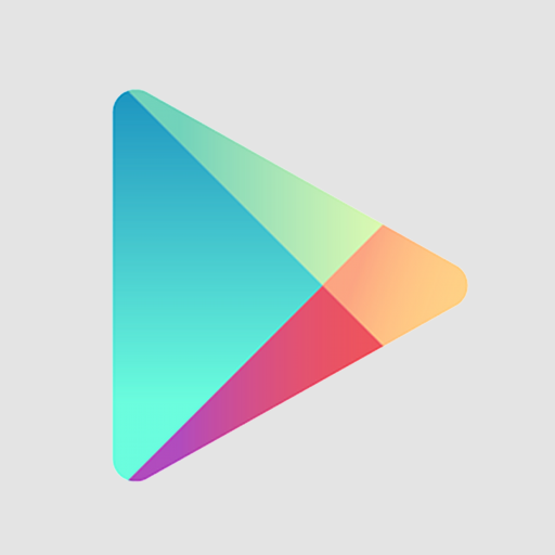Flat, Google, Play Icon