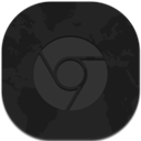Chrome, Flat, Round Icon