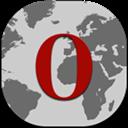 Flat, Opera, Round Icon