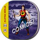 Comicbook, Flat, Round Icon