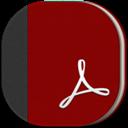 Adobe, Flat, Reader, Round Icon