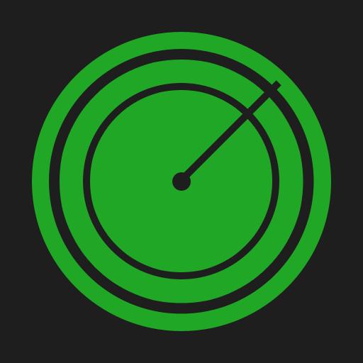 Flat, Radar Icon
