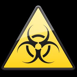 Biological, Hazard, Symbol, Triangle Icon