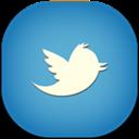 Blue, Flat, Round, Twitter Icon