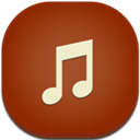 Flat, Music, Round Icon