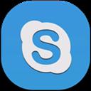 Flat, Round, Skype Icon
