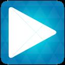 Blue, Google, Play Icon