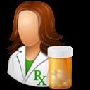 Female, Pharmacist Icon