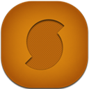 Flat, Round, Soundhound Icon