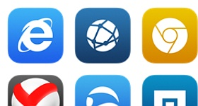 IOS 7 Style Browser Icons