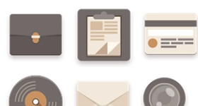 Flat Icons Brownie Theme Icons