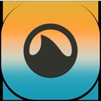 Flat, Grooveshark, Mobile Icon
