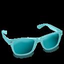 Aqua, Glasses Icon
