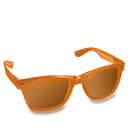 Glasses, Orange Icon