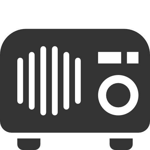 Radio, Tabletop Icon