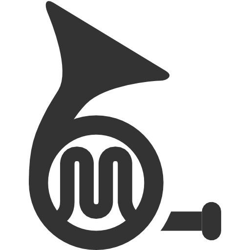 French, Horn Icon