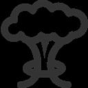 Cloud, Mushroom Icon