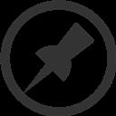 Circle, Pin Icon