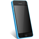 5c, Blue, Iphone Icon