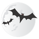 Bats, Icon, Moon Icon