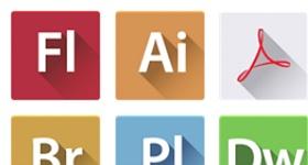 Flats Adobe CS 6 Icons