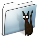 Cat, Folder, Graphite, Smooth Icon