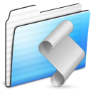 Folder, Script, Stripe Icon