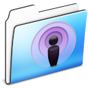 Folder, Podcast, Sidebar, Smooth Icon