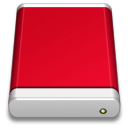 Drive, Product, Red Icon