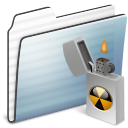 Alt, Burnable, Folder, Graphite, Sidebar, Stripe Icon