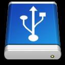 Blue, Drive, Usb Icon