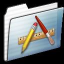 Applications, Folder, Graphite, Stripe Icon