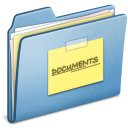 Blue, Documents Icon