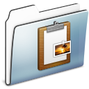 Clipboard, Folder, Graphite, Smooth Icon