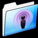Folder, Podcast, Sidebar, Stripe Icon