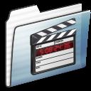 Folder, Graphite, Movie, Stripe Icon
