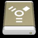 Drive, External, Firewire, Lightbrown Icon
