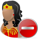 Delete, Wonderwoman Icon