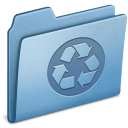 Blue, Recycling Icon
