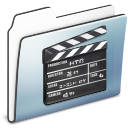 Folder, Graphite, Movie, Old, Smooth Icon