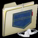 Ipod, Lightbrown, Pocket, Shuffle Icon