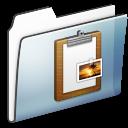 Clipboard, Folder, Graphite, Sidebar, Smooth Icon