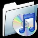 Folder, Graphite, Itunes, Smooth Icon