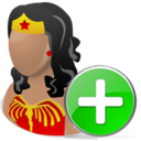 Add, Wonderwoman Icon