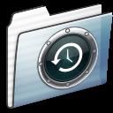 Folder, Graphite, Stripe, Timemachine Icon
