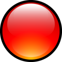 Aqua, Ball, Red Icon