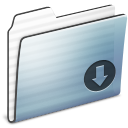 Drop, Folder, Graphite, Stripe Icon