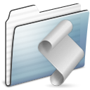 Folder, Graphite, Script, Stripe Icon